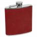 Leatherette Stainless Steel Flask in Rose (6 oz.)