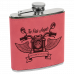 Leatherette Stainless Steel Flask in Pink (6 oz.)