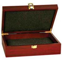 "Rosewood Finish Gift Box (7 3/4"" x 6 1/4"" x 2 3/8"")"