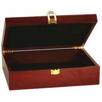 "Rosewood Finish Gift Box (12 1/4"" x 8 1/4"" x 3 1/2"")"