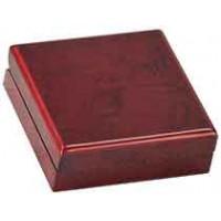 "Rosewood Finish Medal Box (3 3/4"" x 3 3/4"" x 1 1/4"")"