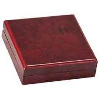 "Rosewood Finish Medal Box (4 1/4"" x 4 1/4"" x 1 1/4"")"