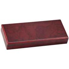 "Rosewood Finish Gift Box (3 3/4"" x 8 3/4"" x 1 1/4"")"