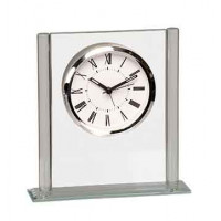 "Square Glass Clock (6 1/4"")"