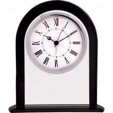"Arch Glass Clock with Black Border (6 1/4"")"