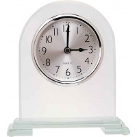 "Arch Corner Glass Clock (6 1/2"")"