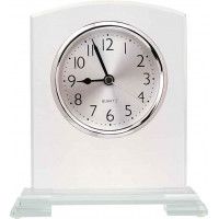 "Square Arch Corner Glass Clock (6 1/2"")"
