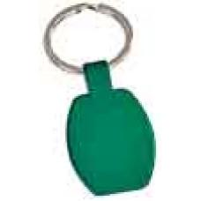 Rectangular Metal Keychain in Green