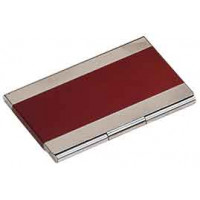 Metal Business Card in Red