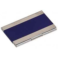 Metal Business Card in Blue