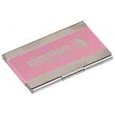 Metal Business Card in Pink