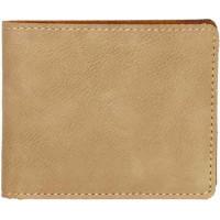 "Leatherette Bifold Wallet in Light Brown (4 1/2"" x 3 1/2"")"
