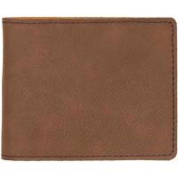 "Leatherette Bifold Wallet in Dark Brown (4 1/2"" x 3 1/2"")"