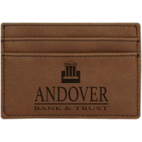 "Leatherette Money Clip in Dark Brown (4"" x 2 3/4"")"