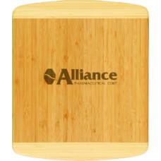 """Bamboo Cutting Board in Rectangle 2 Tone (13 1/2"""" x 11 1/2"""" x 3/4)"""