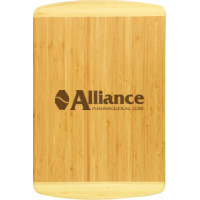 "Bamboo Cutting Board in Rectangle 2 Tone (18"" x 12"" x 3/4"")"