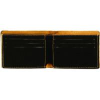 """Leatherette Bifold Wallet in Black (4 1/2"""" x 3 1/2"""")"""