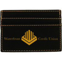 "Leatherette Money Clip in Black (4"" x 2 3/4"")"