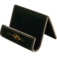 """Leatherette Holder/Easel Black (3 1/2"""" x 2 1/2"""")"""