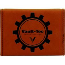 "Leatherette Hard Card Case in Rawhide (3 3/4"" x 2 3/4"")"