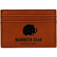 "Leatherette Money Clip in Rawhide (4"" x 2 3/4"")"