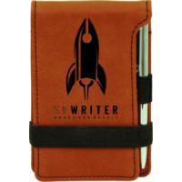 "Leatherette Pad/Pen in Rawhide (3 1/4"" x 4 3/4"")"