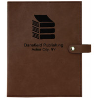 "Book/Bible Cover with Snap Closer in Light Brown (6 1/2"" x 8 3/4"")"