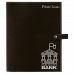 """Leatherette Book/Bible Cover with Snap Closure in Black/Silver (8 3/4"""" x 11"""")"""