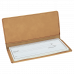 """Leatherette Checkbook Cover in Light Brown (6 3/4"""" x 3 1/2"""")"""