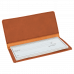 "Leatherette Checkbook Cover in Rawhide (6 3/4"" x 3 1/2"")"
