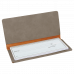 """Leatherette Checkbook Cover in Gray (6 3/4"""" x 3 1/2"""")"""