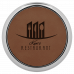 """Leatherette Round Coaster in Dark Brown with Silver Edge (3 5/8"""")"""