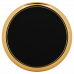 "Leatherette Round Coaster in Black/Gold with Gold Edge (3 5/8"")"