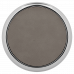 """Leatherette Round Coaster in Gray with Silver Edge (3 5/8"""")"""