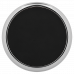 "Leatherette Round Coaster in Black/Silver with Silver Edge (3 5/8"")"