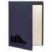 """Leatherette Portfolio with Notepad in Blue (9 1/2"""" x 12"""")"""