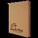 "Leatherette Portfolio in Light Brown w/ Zipper & Notepad (9 1/2"" x 12"")"