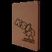 """Leatherette Portfolio in Dark Brown w/ Zipper & Notepad (9 1/2"""" x 12"""")"""