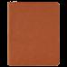 "Leatherette Portfolio in Rawhide w/ Zipper & Notepad (9 1/2"" x 12"")"