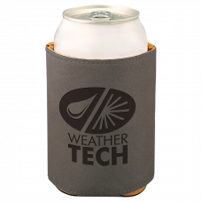 "Leatherette Beverage Holder in Gray (3 3/4"")"