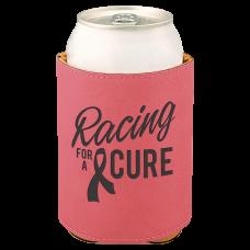 """Leatherette Beverage Holder in Pink (3 3/4"""")"""