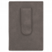 "Leatherette Money Clip in Gray (4"" x 2 3/4"")"