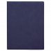 """Leatherette Mini Portfolio in Blue with Notepad (7"""" x 9"""")"""