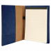"Leatherette Mini Portfolio in Blue with Notepad (7"" x 9"")"