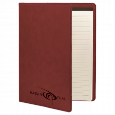 "Leatherette Mini Portfolio in Rose with Notepad (7"" x 9"")"
