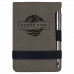 """Leatherette Notepad in Gray with Pen (3 1/4"""" x 4 3/4"""")"""