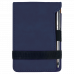 """Leatherette Notepad in Blue with Pen (3 1/4"""" x 4 3/4"""")"""