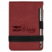 "Leatherette Notepad in Rose with Pen (3 1/4"" x 4 3/4"")"