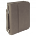 "Leatherette Book/Bible Cover in Gray with Handle & Zipper (6 3/4"" x 9 1/4"")"