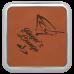 "Leatherette Square Coaster in Rawhide w/ Silver Edge (3 5/8"" x 3 5/8"")"